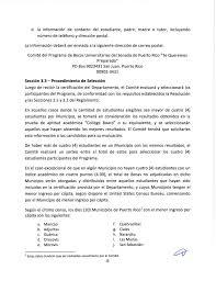 REGLAMENTO DEL PROGRAMA DE BECAS UNIVERSITARIAS DEL SENADO DE PUERTO
