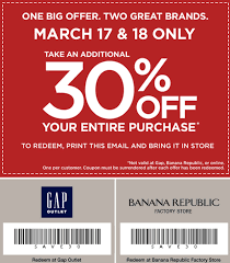 Gap & Banana Republic Factory Outlet 30% Off ENTIRE Purchase ... Athleta Promo Codes November 2019 Findercom 50 Off Bana Republic And 40 Br Factory With Email Code Sport Chek Coupon April Current Thrive Market Expired Egifter 110 In Home Depot Egiftcards For 100 Republic Outlet Canada Pregnancy Test 60 Sale Items Minimal Exclusions At Canada To Save More Gap Uae Promo Code Up Off Coupon Codes Discount Va Marine Science Museum Coupons Blooming Bulb Catch Of The Day Free Shipping 2018 How 30 Off Coupons Money Saver 70