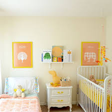 Perfect Shared Bedroom In A Small Space Think Converted Home Office Wonderful For Toddler And Baby I Like The Cream Walls White Furniture