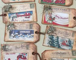 8 Rustic Vintage Style Christmas Tags
