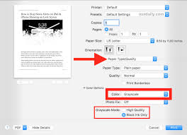 How To Print Black And White On A Mac