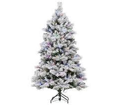 75 Flocked Christmas Tree by Ed On Air Santa U0027s Best 7 5 U0027 Flocked Spruce Tree By Ellen Degeneres
