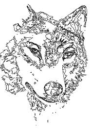 Animal Coloring Pages Wolf For Adults