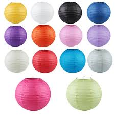 10Pcs Lot 8 10 12 14 Chinese Round Paper Lanterns Lamp