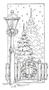 Christmas Coloring Page Lespassionscreativesdemariecenterblog
