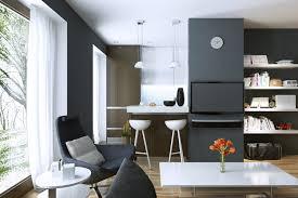 offene wohnung wohnküche schlafzimmer und bad ohne wände