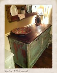 Painted Top Distressed And Stained Dark Waxed