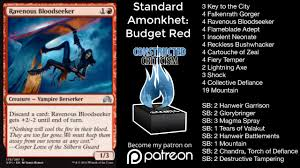 amonkhet standard budget red deck tech magic the gathering