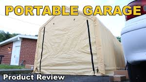 Harbor Freight Storage Shed by Harbor Freight Portable Garage Review 10 X 17 Youtube