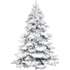 White Prelit Trees Buy Lit X Artificial Tree Flocked On Green Clear Lights In