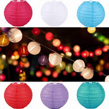 Fashion Chinese Paper Lantern Christmas Wedding Party DIY Decoration 4 10cm Round Lanterns
