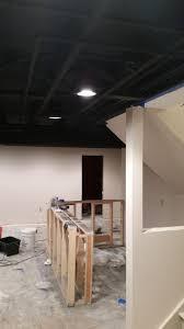 Using A Paint Sprayer For Ceilings by Exposed Basement Ceiling Sprayed Black Diy Album On Imgur