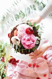 Chocolate Covered Strawberry Birthday Cake with Fresh Flowers