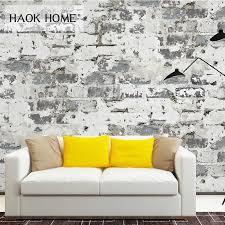 haokhome moderne faux ziegel 3d tapete rost rot weiß strukturierte kontaktieren papier rollen wohnzimmer schlafzimmer home wand dekoration