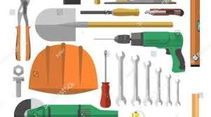 Nails Carpenter Tool Pencil And In Color Woodworking Hand Tools Clipart