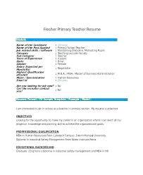 School Teacher Cv Sample Doc Preschool Resume Samples Teachers Aide E Primary Fresher Fres Elementary