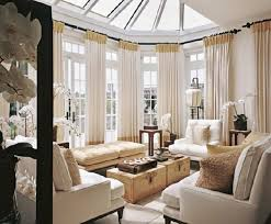 Sunroom Decor Ideas Window Treatments For Sunrooms Amazing Vintage Style Chic White Curtain With Gold Accent