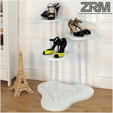 Arts Park Clothing Store Shoe Shop Window Display Showcase Rack Shelf Wooden Floor Booth Baoxie