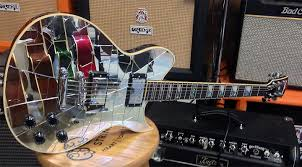 The Top Of This Guitar Is Outfitted With Genuine Cracked Mirrors