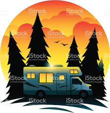 RV At Dusk Royalty Free Rv Stock Vector Art Amp More Images