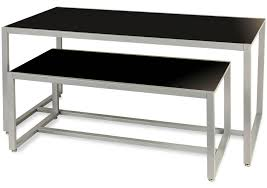 Nesting Table Set Black Top