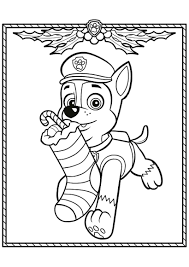 Paw Patrol Christmas Coloring Page Tracker