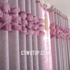 Pink And Purple Ruffle Curtains by Plum Ruffled Modern Patterned Designer Curtains And Drapes