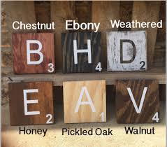 Scrabble Tile Value Change by Large Scrabble Wall Tiles Wood Wall Decor Farmhouse