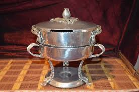 Hand Wrought Creations By Rodney Kent Aluminum Chafing Dish HandForged