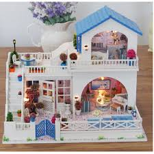 ROBOTIME DIY Music Living Room Adorable Miniature Dolls House With