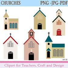 Church Clipart Churches Christian Instant Download And Chalkboard Terms