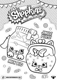 Made By A Princess Shopkins Coloring Pages Season 4 Petkins Jingle Purse Milk Bud