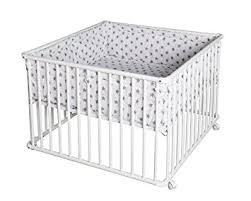 schardt parc bébé basic 100 x 100 blanc avec tapis big grey