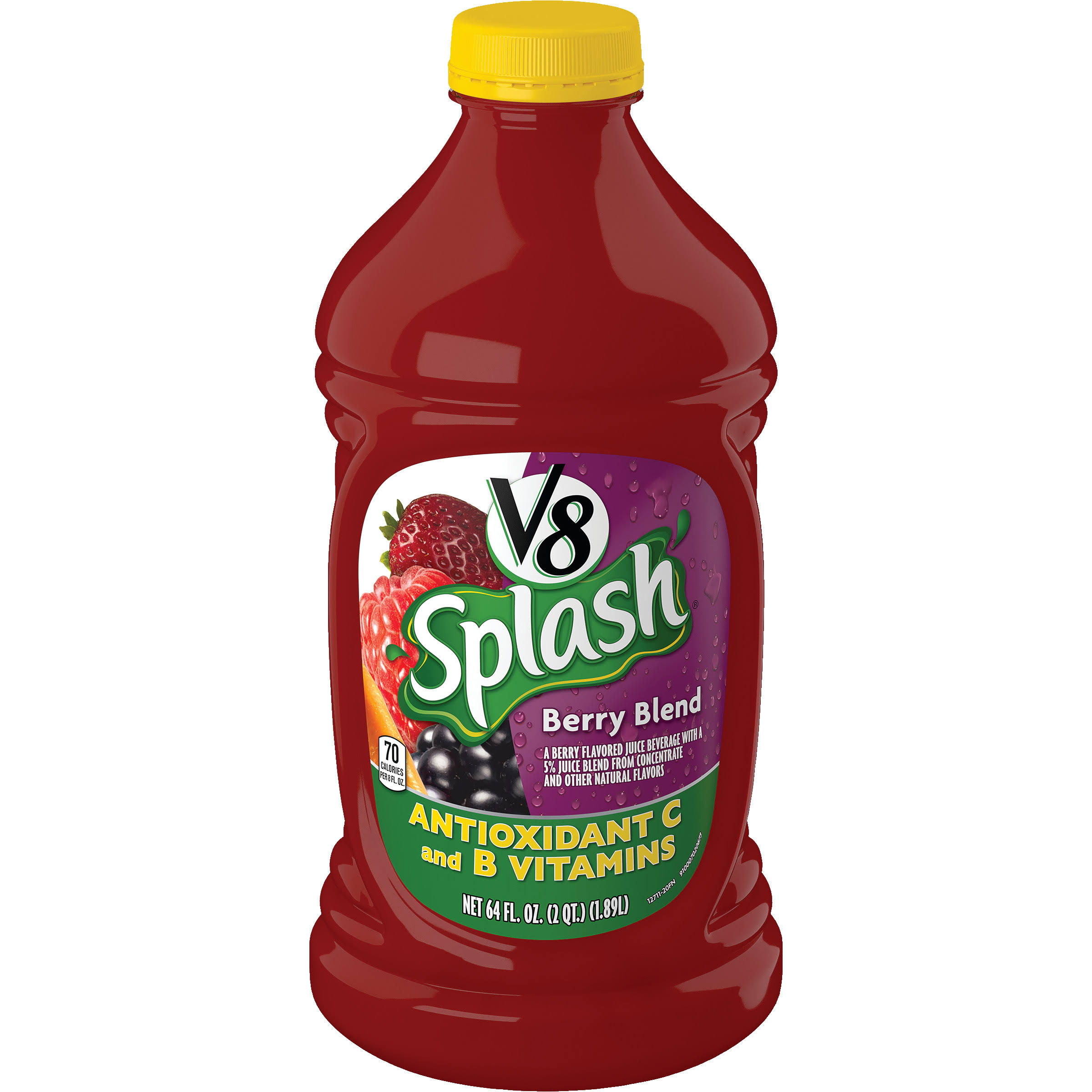 V8 Splash Juice Beverage - Berry Blend, 64oz