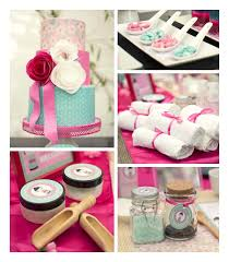 Cherry Blossom Spa Themed Birthday Party Via Karas Ideas KarasPartyIdeas
