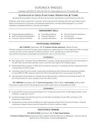 Resume Examples Supervisory Skills Feat Customer Service Example Supervisor Sample Excellent