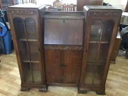 vintage bureau antique vintage bureau with display cabinets ebay