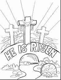 Religious Easter Coloring Pages For Preschool Archives And Bible