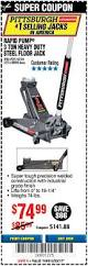 Cheap Floor Jacks 3 Ton by Harbor Freight Tools Coupon Database Free Coupons 25 Percent