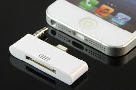 30 Pin to 8 Pin adapter converter dock support iPhone 5 5S 5C