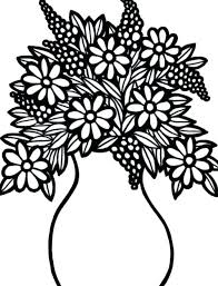 Full Image For Flower Vase Coloring Pages Flowers In A 73 Best Large