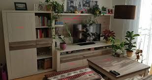 tv lowboard bücherregal schrank couchtisch set wohnzimmer wand