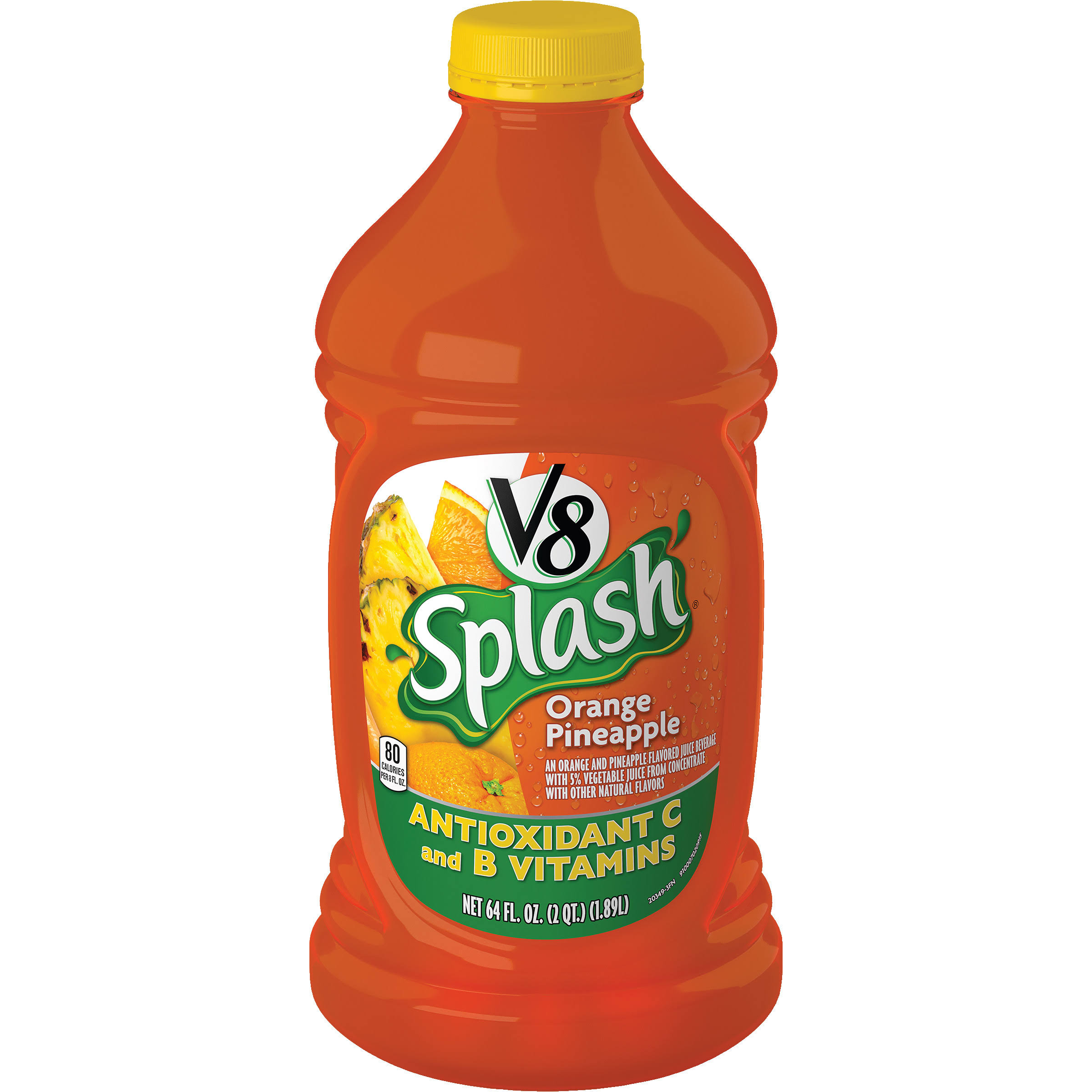 V8 Splash Orange Pineapple - 64oz