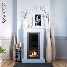 vicco kaminumrandung im shabby landhaus stil kaminkonsole 110x70 cm weiß