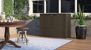 Suncast 50 Gallon Deck Boxstorage Bench by Suncast Vdb19500j Vertical Deck Box Youtube