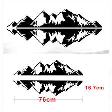 100 Cool Truck Stickers 2PC Hot Sticker Super Mountain Range Sticker Vinyl Decals