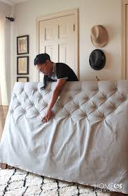 Diamond Tufted Headboard With Crystal Buttons by How To Make A Diamond Tufted Headboard