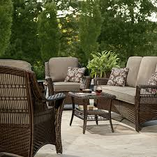 Sears Lazy Boy Patio Furniture by La Z Boy Scarlett 4 Piece Seating Set Grey Outdoor Living