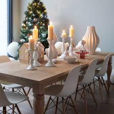 Modern Dining Room With White Festive Accessories