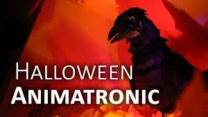 Cheap Animatronic Halloween Props by Talking Raven Diy Halloween Animatronic Youtube
